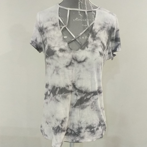 American Eagle tie-dye soft and sexy ribbed tee